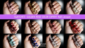 GOLDEN-ROSE-COLOR-EXPERT-Nail-Lacquer-Swatches