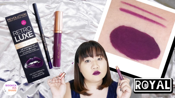 Makeup Revolution RETRO LUXE Matte Lip Kit สี Royal